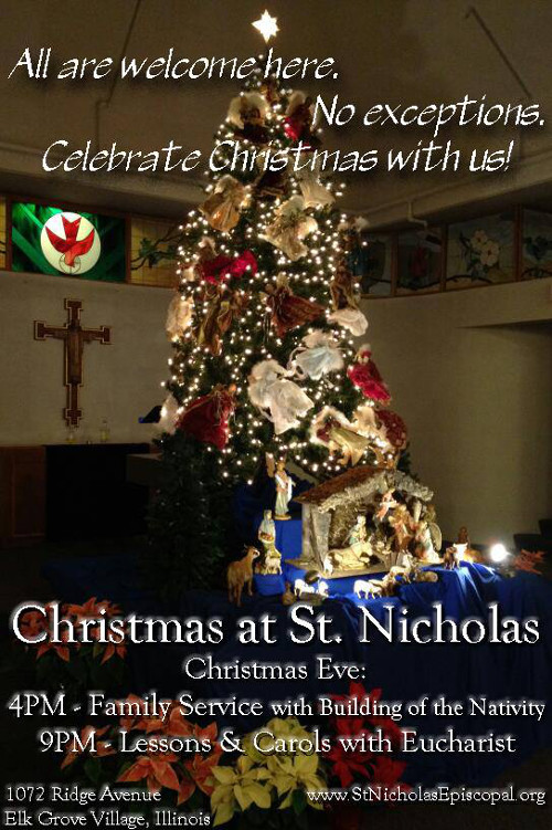 All are welcome Christmas Eve at St Nicholas