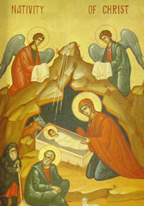 Icon of the birth of Christ