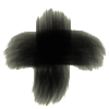 Ashes in the form of a cross